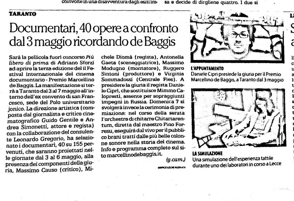 Articolo su Repubblica Bari